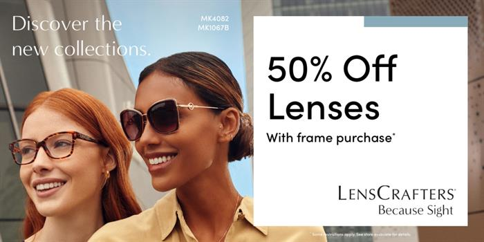 LensCrafters_May_Campaign_Receive_50_off_lenses_with_a_purchase_of_a_frame_1200x600_EN